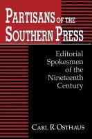 Partisans of the Southern Press PDF