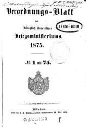 Verordnungs-Blatt: 1875
