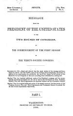 Message from the President of the United States to the Two Houses of Congress