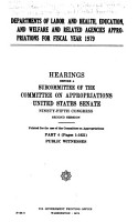 Departments of Labor and Health  Education  and Welfare and Related Agencies Appropriations for Fiscal Year 1979  Public witnesses PDF