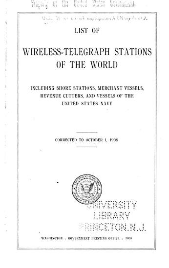 List of Wireless telegraph Stations of the World PDF