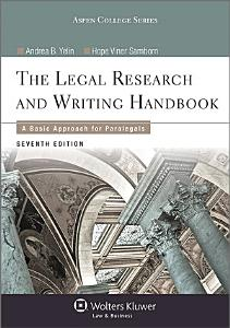Legal Research and Writing Handbook PDF