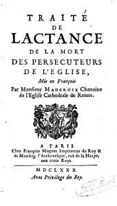 Traité de la mort des persécuteurs de l'Eglise