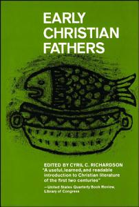 Early Christian Fathers Book