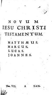 NOVUM IESU CHRISTI TESTAMENTUM. MATTHAEUS. MARCUS. LUCAS. JOANNES.