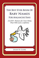 The Best Ever Book of Baby Names for Avalanche Fans PDF