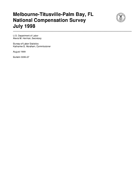 Download MelbourneTitusvillePalm Bay  FL  Bulletin 309527  July 1998 Book