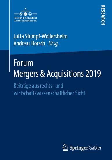 Forum Mergers   Acquisitions 2019 PDF