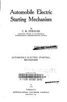Automobile Electric Starting Mechanism PDF