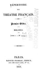Répertoire du Théatre français: Premier ordre