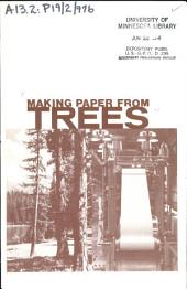 Making paper from trees