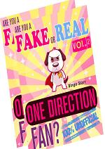 Are You a Fake or Real One Direction Fan? Bundle Version - Red and Yellow - The 100% Unofficial Quiz and Facts Trivia Travel Set Game