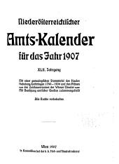 Amts-Kalendar ...: Band 42