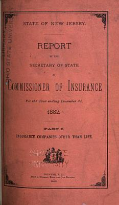Report by the Secretary of State as Commissioner of Insurance