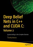 Deep Belief Nets in C   and CUDA C  Volume 2 PDF