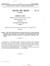 Atti parlamentari del Senato del Regno documenti: Da 1 al 37