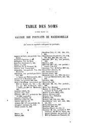 Galerie des portraits de Mademoiselle de Montpensier