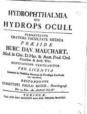 Hydrophthalmia Sive Hydrops Oculi