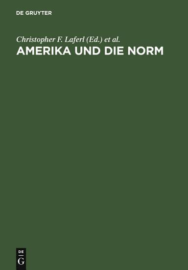 Amerika und die Norm PDF