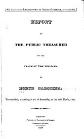 Report of the Public Treasurer on the State of the Finances of North Carolina