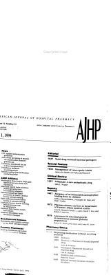 American Journal of Hospital Pharmacy PDF