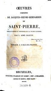 Voyage A L'Ile-De-France: Volume 1