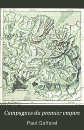 Campagnes du premier empire: succès et revers (1809-1812)