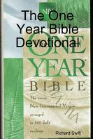 The One Year Bible Devotional PDF