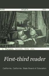 First-third Reader: Volume 2