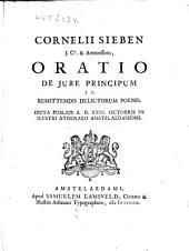 Oratio de jure principum in remittendis delictorum poenis