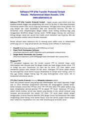 Software FTP (File Transfer Protocol) Terbaik