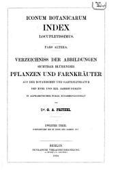 Iconum botanicarum index locupletissimus: Pars prima [altera], Bände 1-2