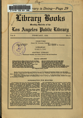 Library Books: Monthly Bulletin of the Los Angeles Public Library, Volume 9, Issue 2