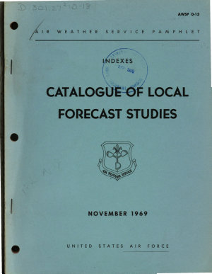 Catalogue of Local Forecast Studies