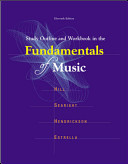 Study Outline and Workbook In The Fundamentals of Music Book