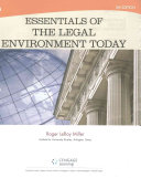Essentials of the Legal Environment Today   Lms Integrated for Mindtap Business Law  1 term Access
