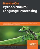 Hands On Python Natural Language Processing PDF