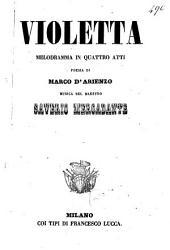 Violetta: melodramma in quattro atti