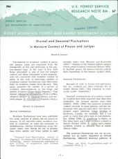 Diurnal and seasonal fluctuations in moisture content of pinyon and juniper