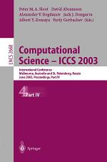 Computational Science - ICCS 2003. Part 4.