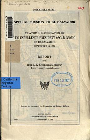 Special Mission to El Salvador PDF