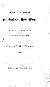 Über Deutschlands protestantische Universitäten