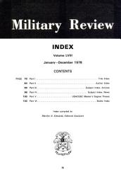 Military Review Book PDF