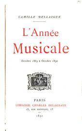 L'année musicale et dramatique, oct. 1886[-1893]