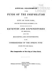 Consolidated Annual Report of the Comptroller of the City of New York for the Fiscal Year ...: Volume 1842