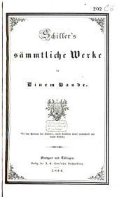 Schiller's sämmtliche Werke in einem Bande