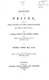 A History of Prices and of the State of Circulation: Volume 5
