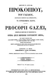 Procopii Gazaei opera omnia: Volume 87, Issue 1