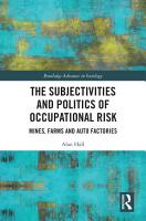 The Subjectivities and Politics of Occupational Risk PDF