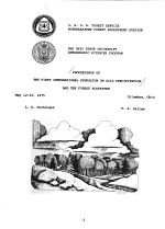 Proceedings of the First International Symposium on Acid Precipitation and the Forest Ecosystem, May 12-15, 1975, Columbus, Ohio